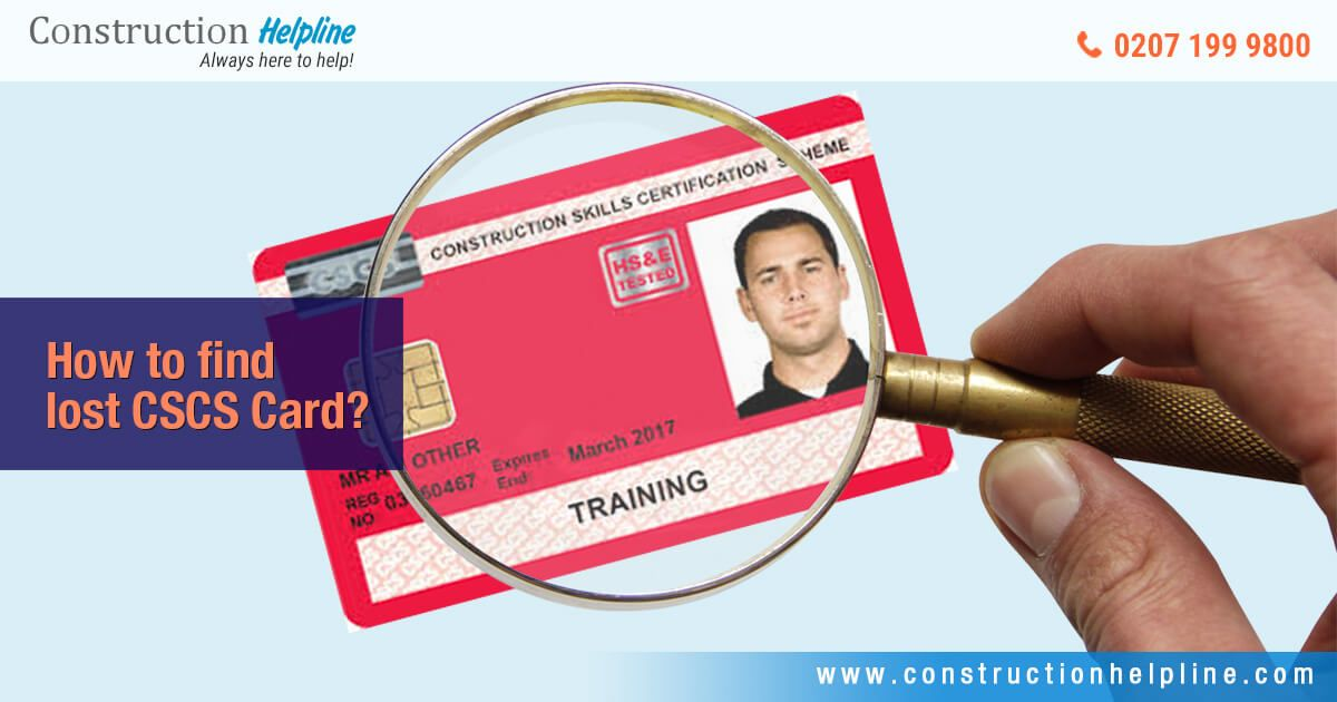 Lost CSCS Card Ipswich, Cards, National insurance number