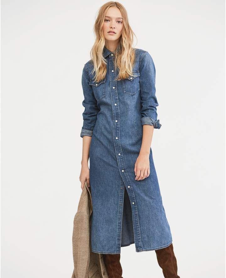 9cb2180460a Ralph Lauren Denim Western Shirtdress