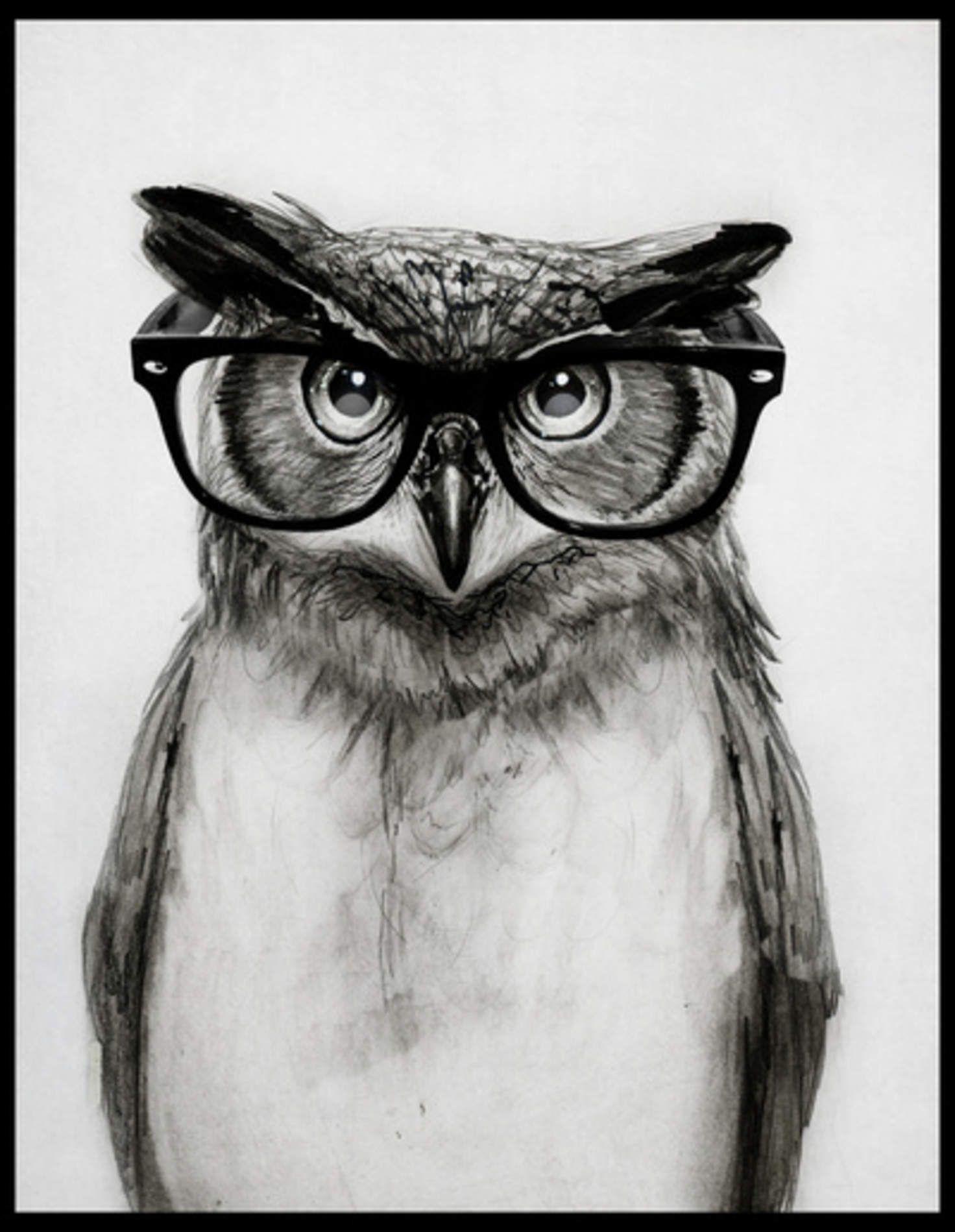 Mr. Owl Art Print by Isaiah K. Stephens