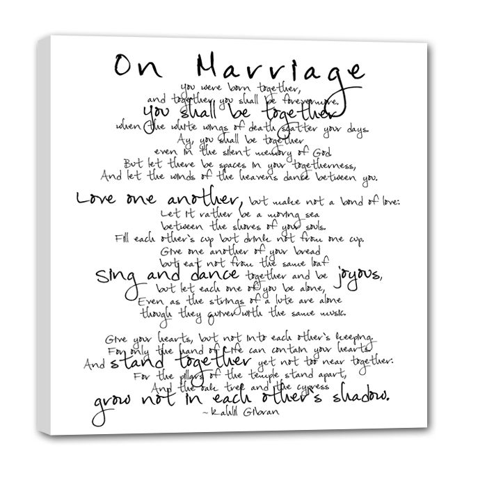Wedding Album Quotes And Sayings: Marriage Quote Vows On Canvas