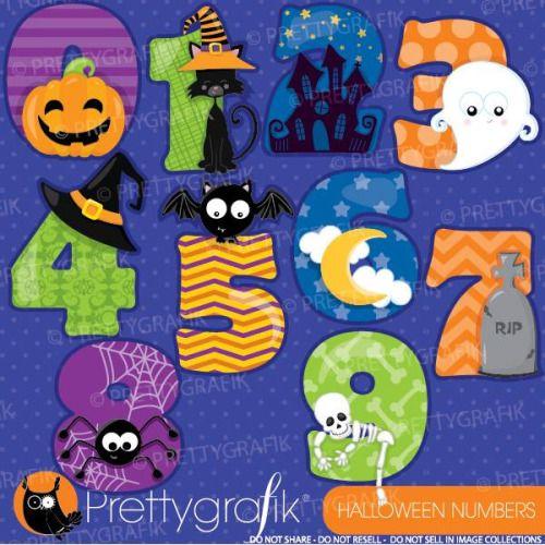 halloween numbers prettygrafik - Buscar con Google