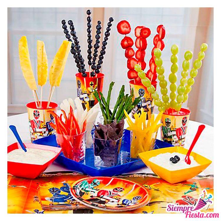 Art culos para fiesta de cumplea os de los power rangers - Accesorios de cumpleanos infantiles ...