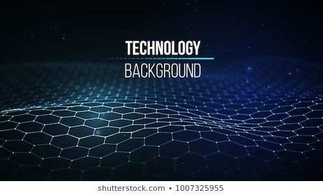 Abstract technology background  Background 3d grid Cyber technology