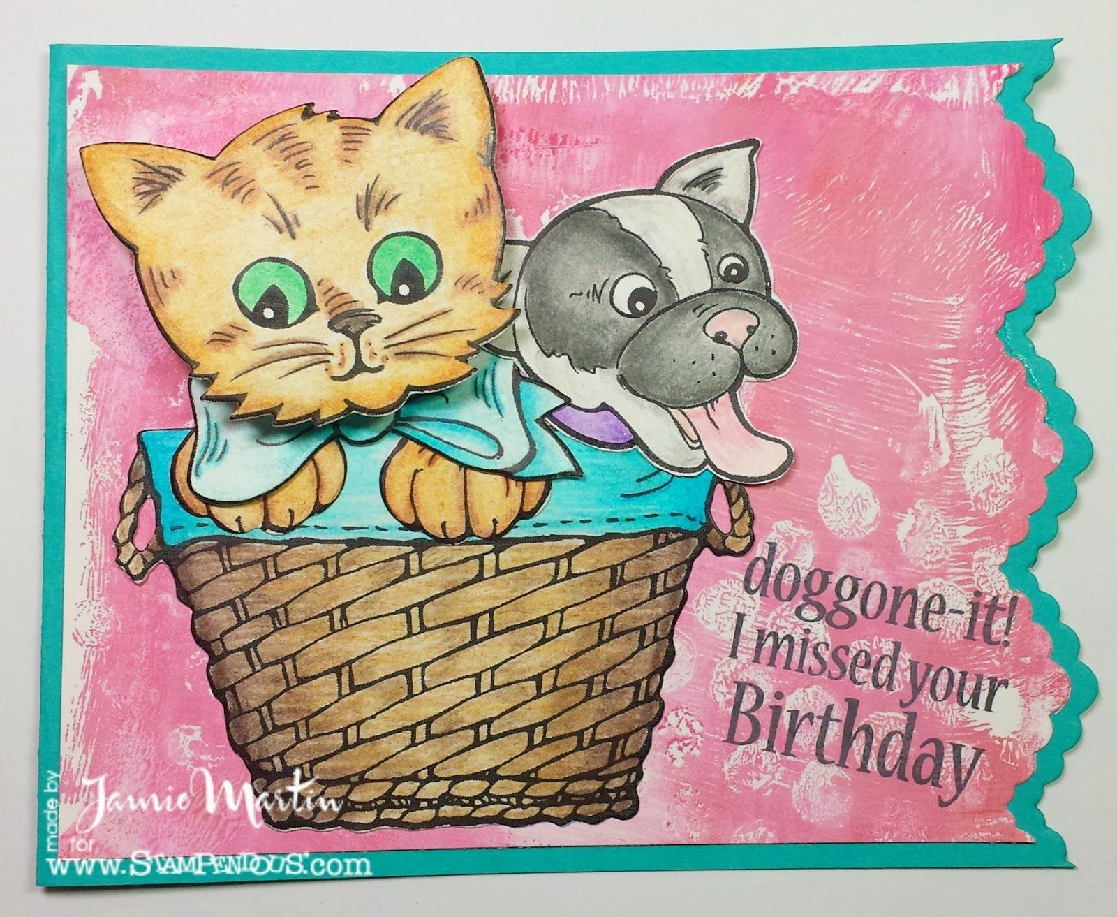 Doggone It Cat Cards Stampendous Stamps Dog Quotes
