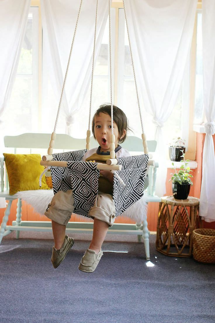 Columpio DIY para bebés y niños | Pinterest | Tela, Bebe y Bebé