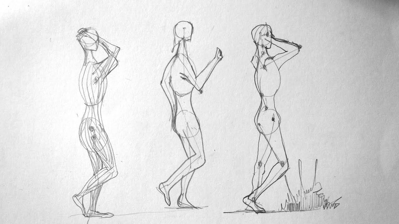 How To Draw Human Figure Part 1 In 2020 Human Drawing Human Figure Drawings