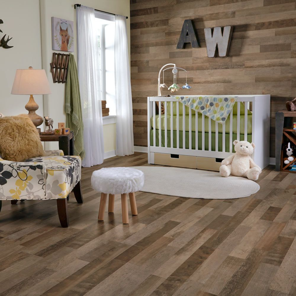 Whiskey Mill laminate, the look of rustic oak barrels with