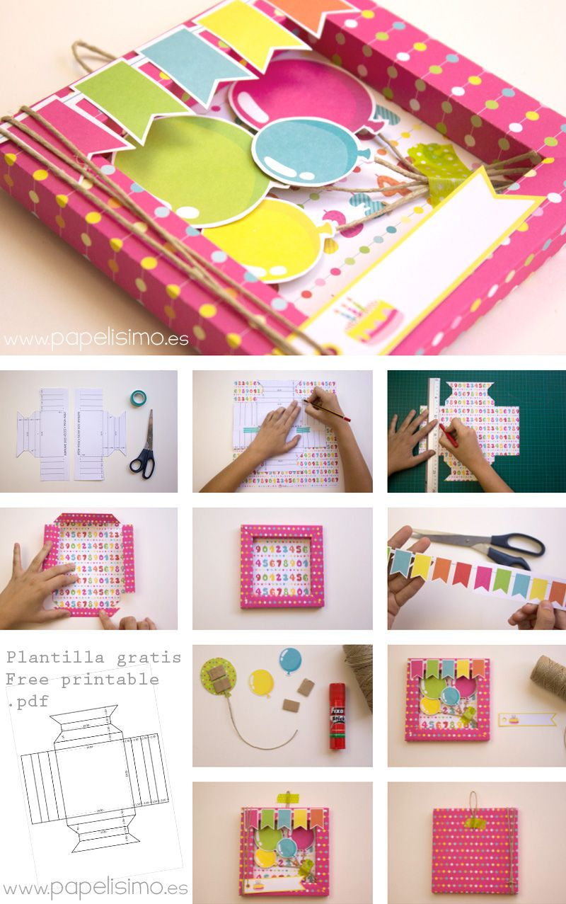 Como hacer tarjeta de cumpleaños 3D Scrapbooking   Basicas ...