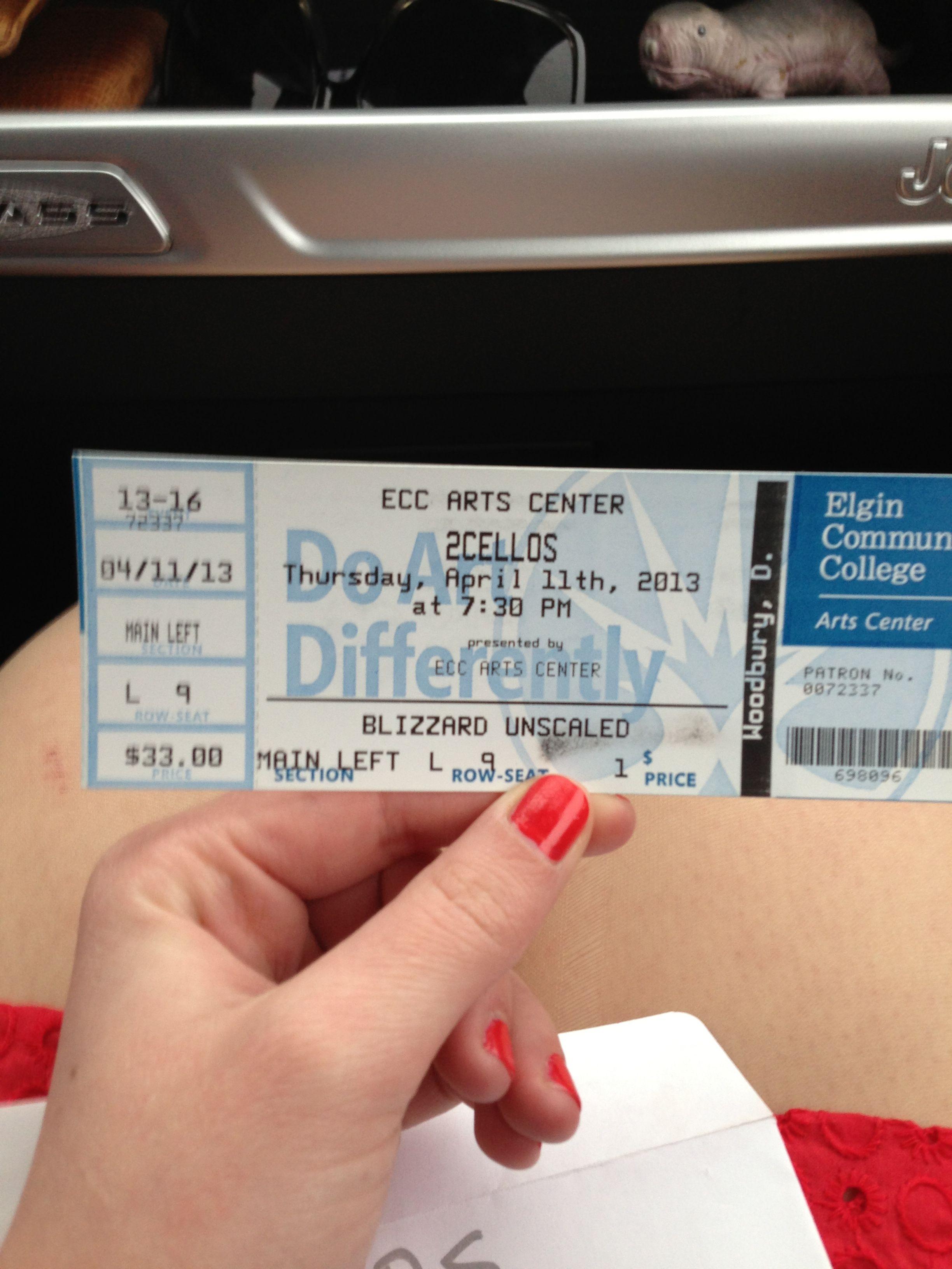 My Ticket to Elgin Concert