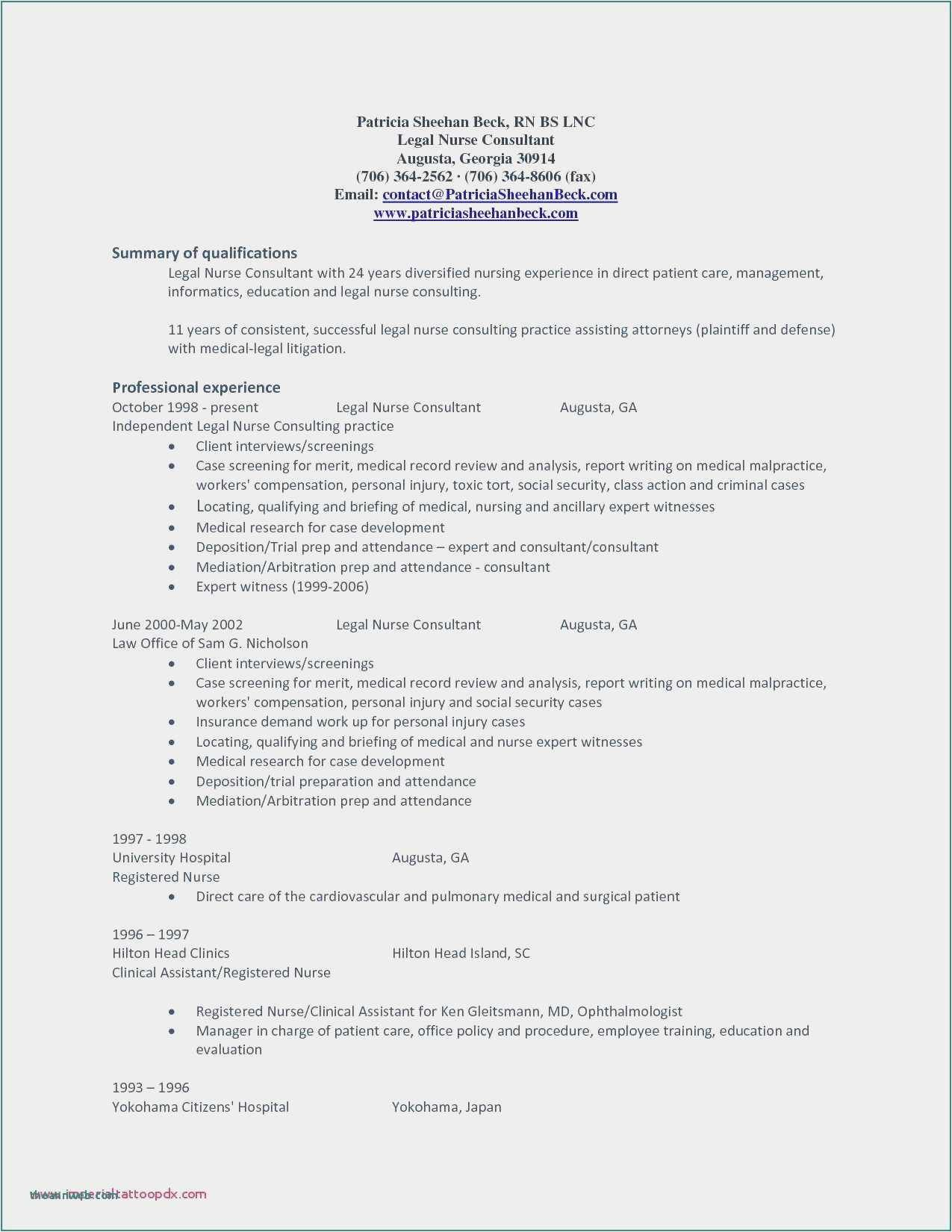 30 Social Worker Resume Template In 2020 Legal Nurse Consultant