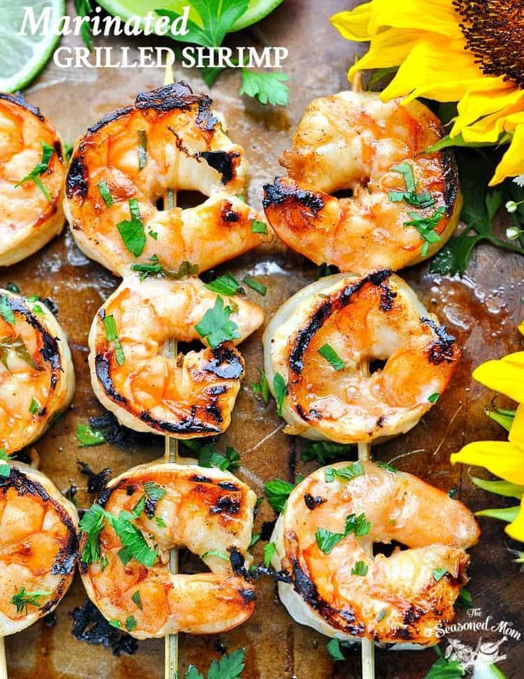 Marinated Grilled Shrimp #grilledshrimp