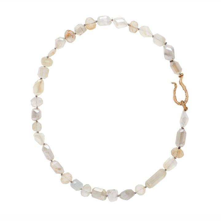 Moonlight moonstone bronze necklace #quartznecklace