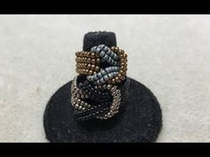 Beading4perfectionists: Giffany's cup chain ring beading tutorial - YouTube