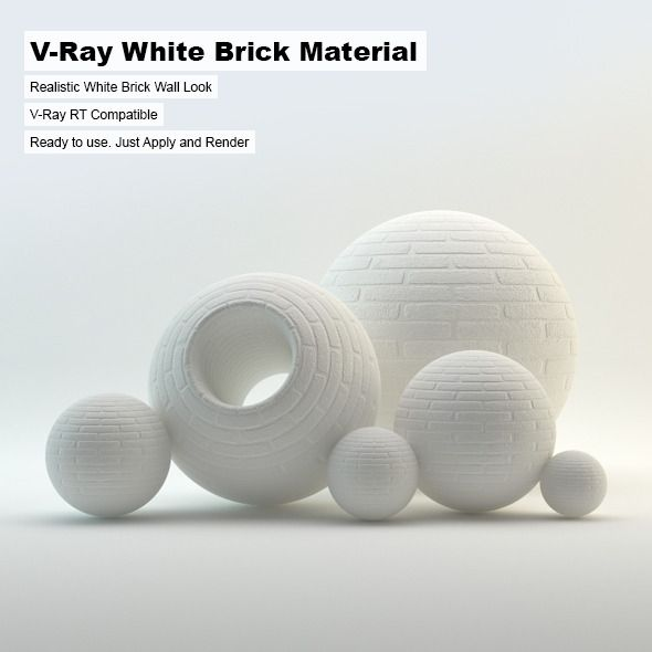 V Ray White Brick Material White Ray Material Brick Brick Material White Brick Brick
