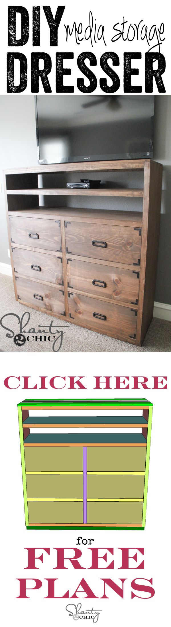 DIY Dresser With Media Storage! Love This And Itu0027s Part Of A 6 Piece