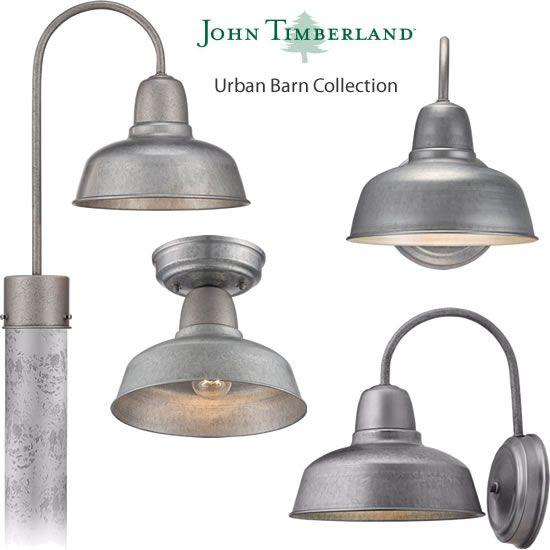 John Timberland Urban Barn Collection In Galvanized Finish