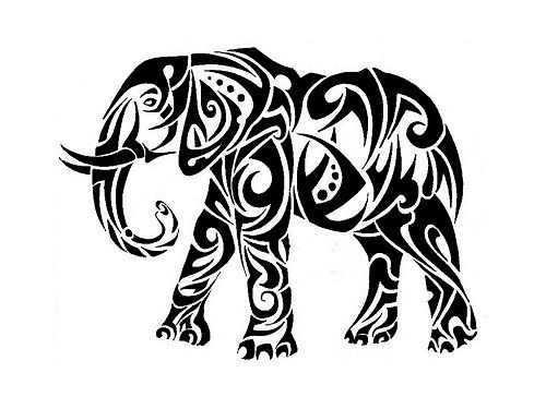 Line Drawings Of African Animals : 16 cool tribal animal tattoos only pinterest