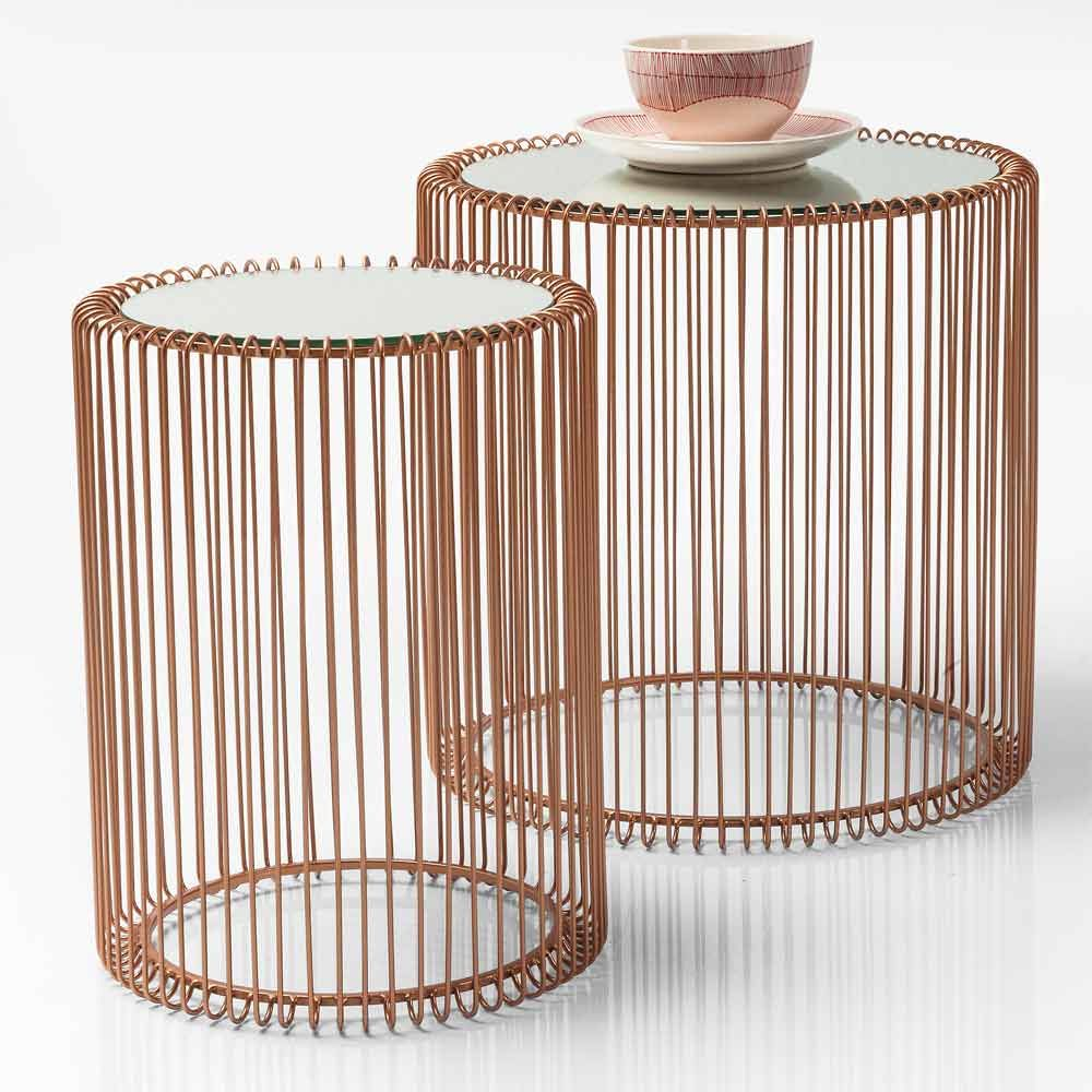 Mirror Side Tables Bedroom Mirrored Copper Side Tables Set Of 2 Copper Side Table Copper
