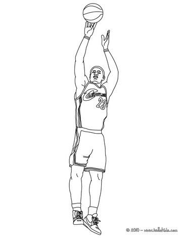 Lebron James Coloring Page More Basketball Players And Sports