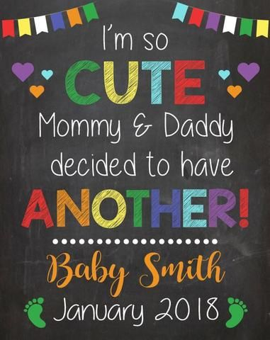 i'm so cute another second child Big Sister Pregnancy Announcement Sign. big bro…