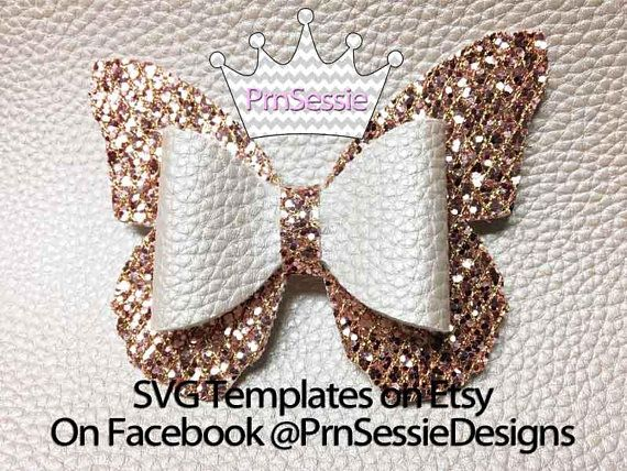 Digital Svg Dxf Pdf Butterfly Bow Template Butterfly Bow Girly