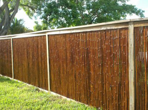bring your weathered bamboo fencing back to life with twp wood stain