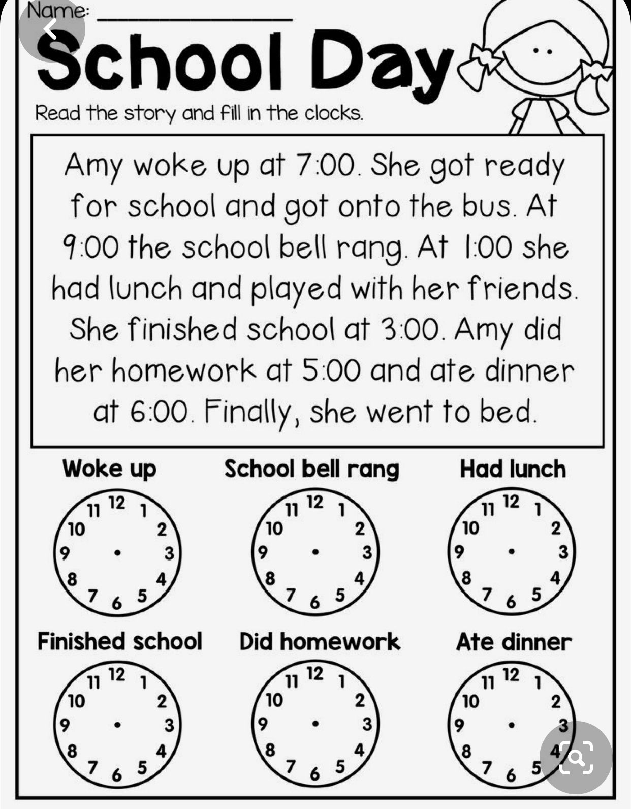 Pin By Mariana Gomez On Tesl School Material Planning In 2020 Time Worksheets 2nd Grade Math Worksheets First Grade Worksheets