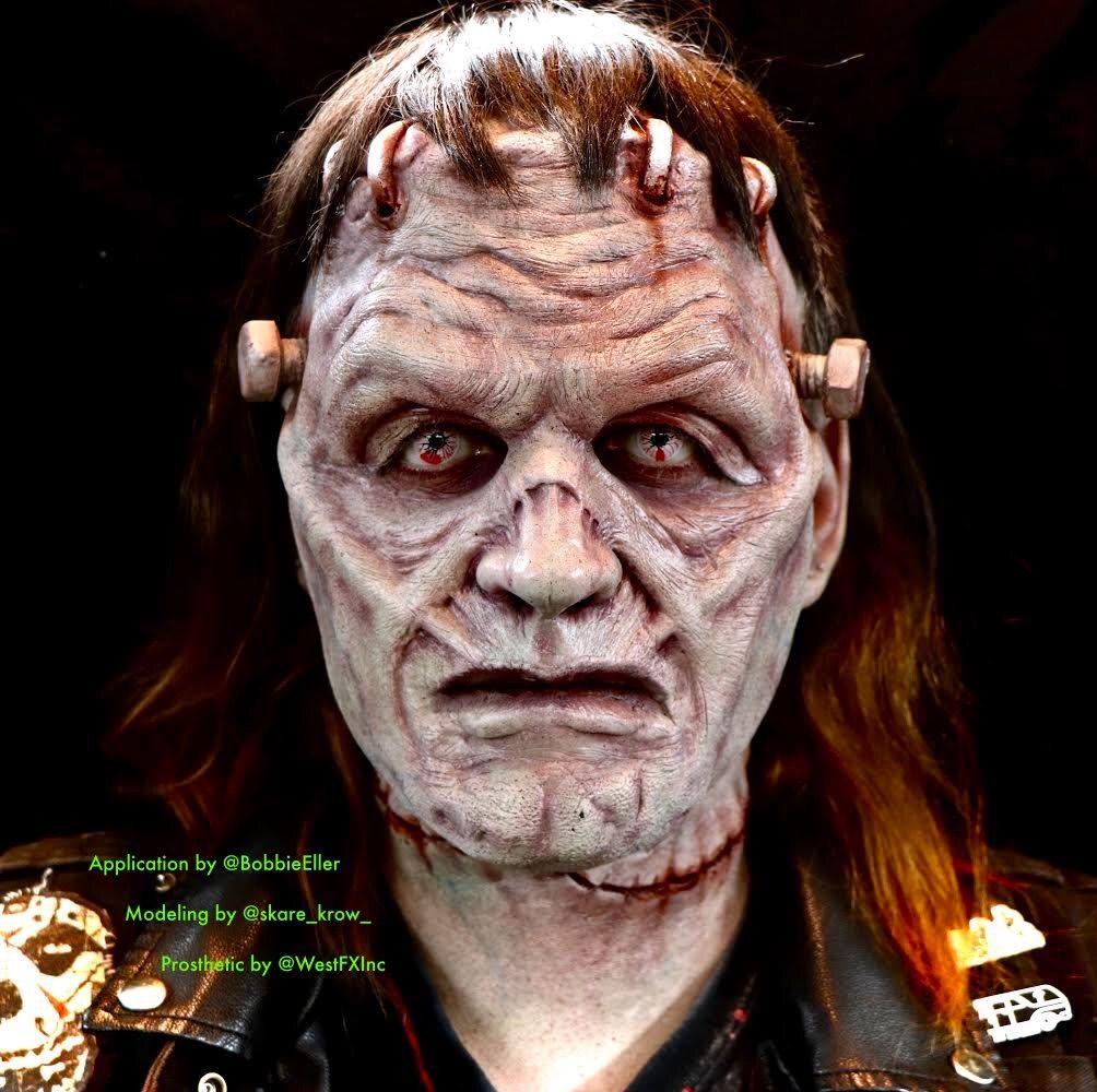 zombie zombie forhead prosthetic cosplay latex Halloween