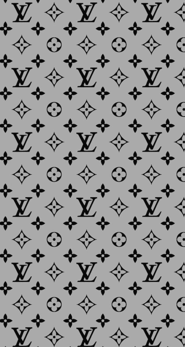 Grey LV background for iPhone