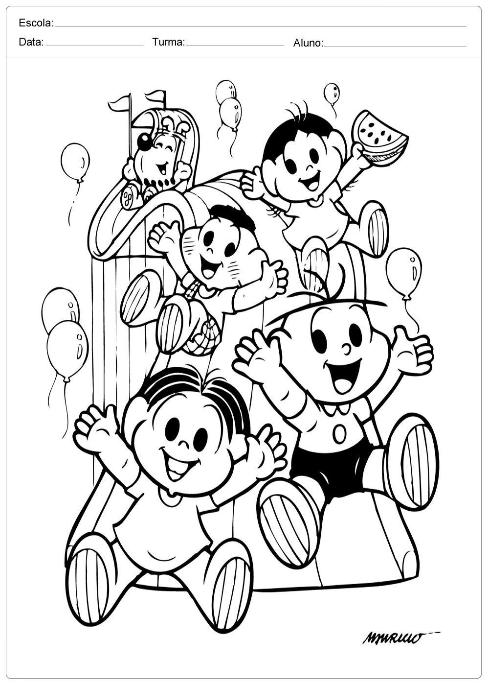 Dia Das Criancas Colorir Turma Da Monica Criancas Para