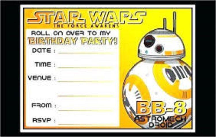 Editable Star Wars Birthday Invitations