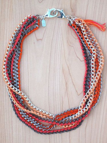 sun wrapped chain necklace