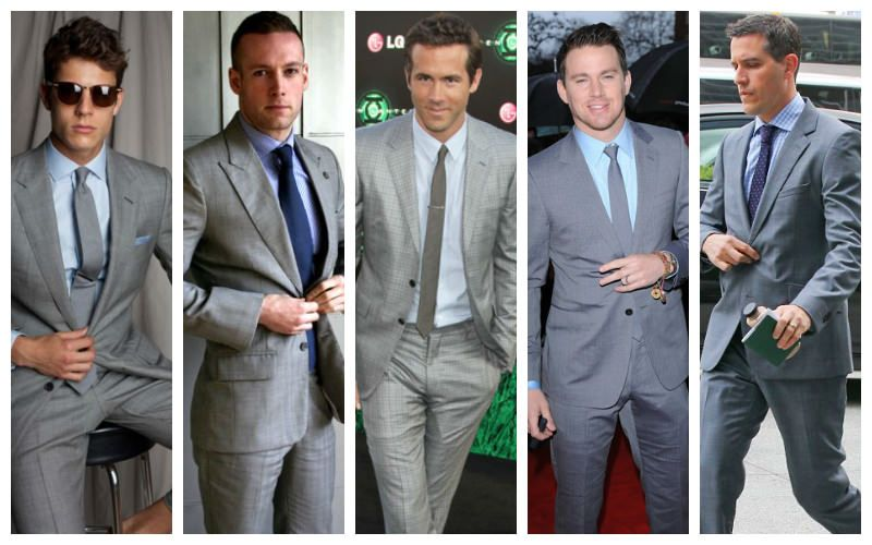 Gray suit and tie combinations