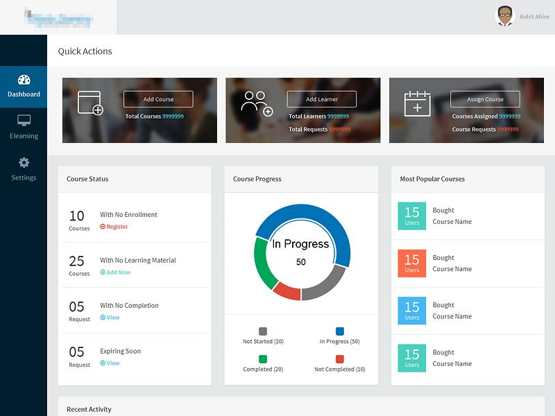 Admin Dashboard Dashboard design - lms administrator sample resume
