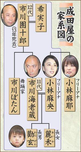 成田屋の家系図 家系図 系図 家