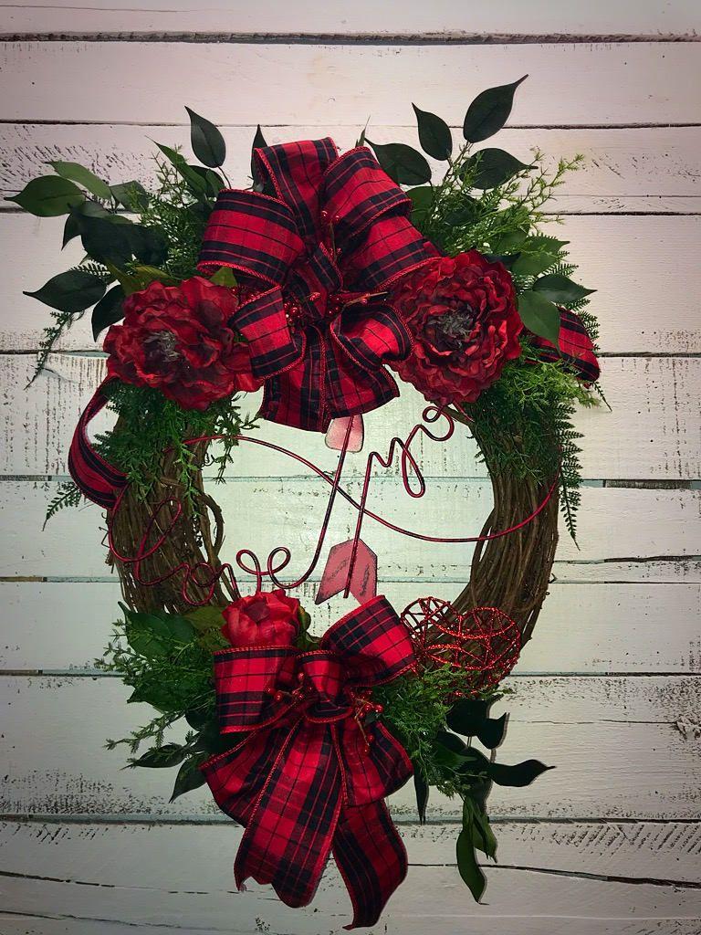 Valentines day wreath front door valentines wreath valentines valentines day wreath front door valentines wreath valentines day valentines door decor buffalo plaid red peonies decorative wreath stunning rubansaba