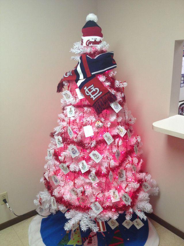 Christmas Tree. Cardinals Baseball, St Louis Cardinals, St Loius, How To  Make Ornaments, Baseball - Pin By Kimberly Palacios On St. Louis Cardinals Cardinals, St