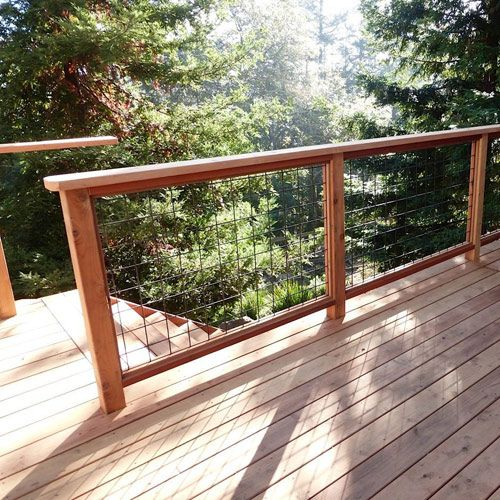 Wild hog railing refined with your view in mind deck for Garden decking for sale