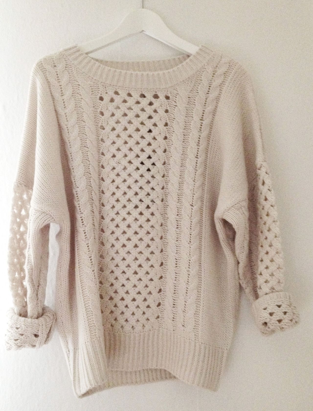 lattice cable sweater