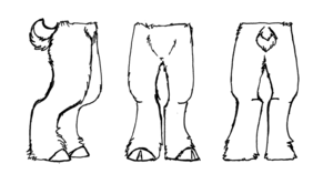 how to draw faun legs - Google Search | Demon | Fursuit ...