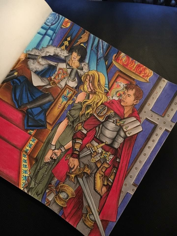 Dorian Chaol And Celaena Throne Of Glass Colouring Book