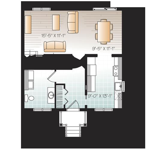 Modèle 711 Expert Maison Par Goscobec Entrepreneur En Constructions Usinées Floor Plans