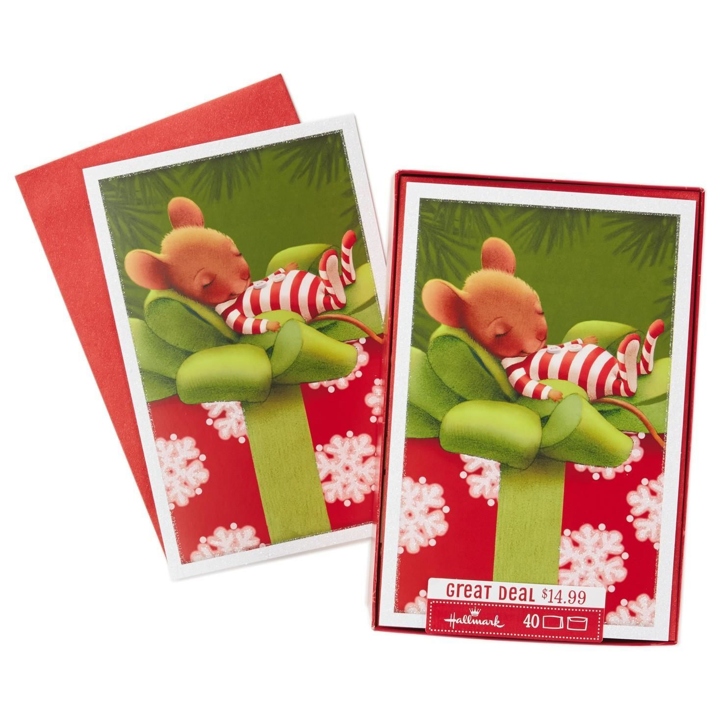Sleeping Mouse Boxed Christmas Cards