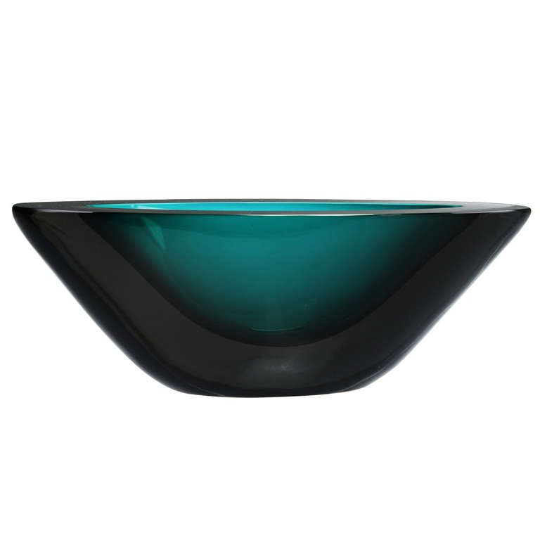 Mid Century Salviati Italian Glass Bowl | Douglas Rosin