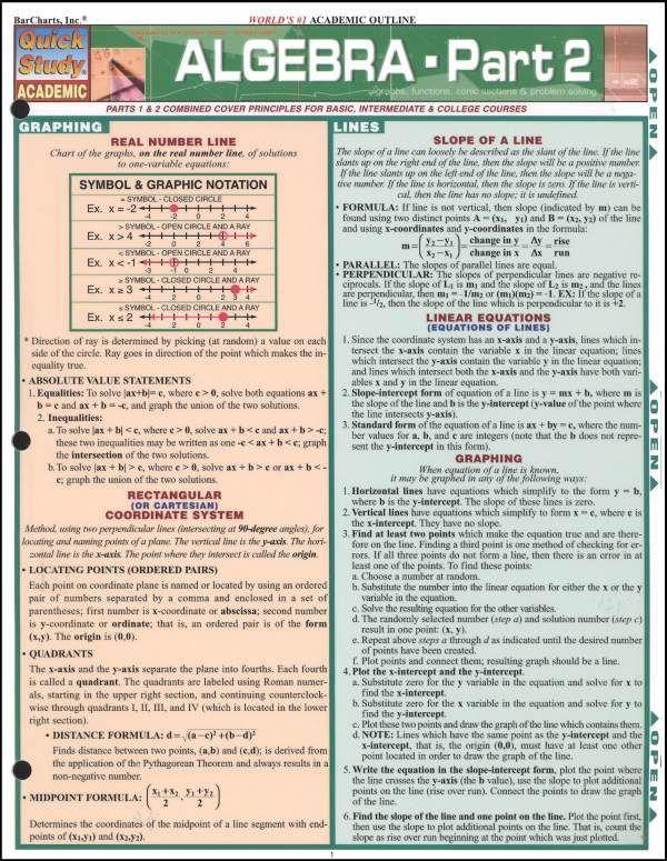 key notes for algebra 2 final exam