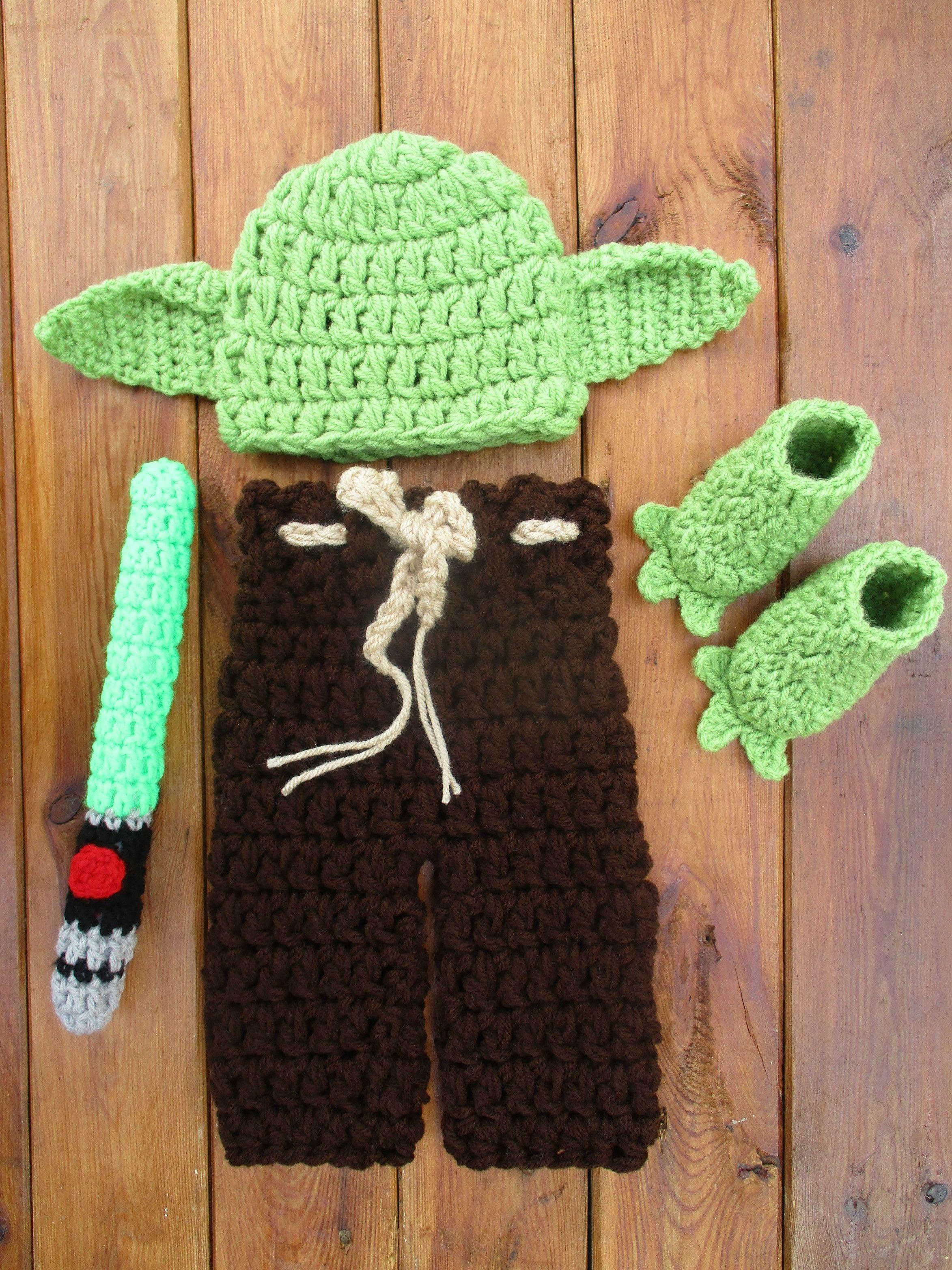Star Wars Baby Yoda Crochet Costume Newborn Photo Props Disney