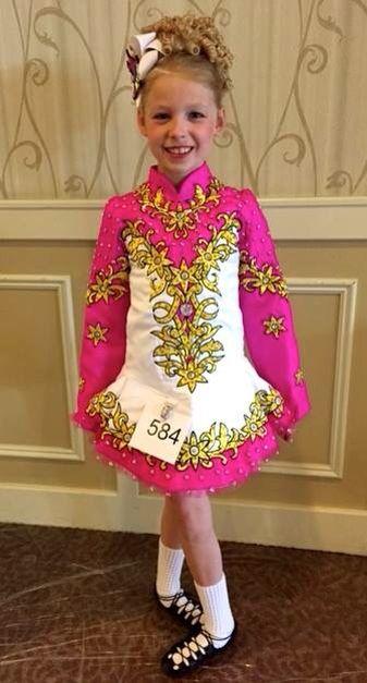 *Celtic Couture *Irish Dance Solo Dress Costume*