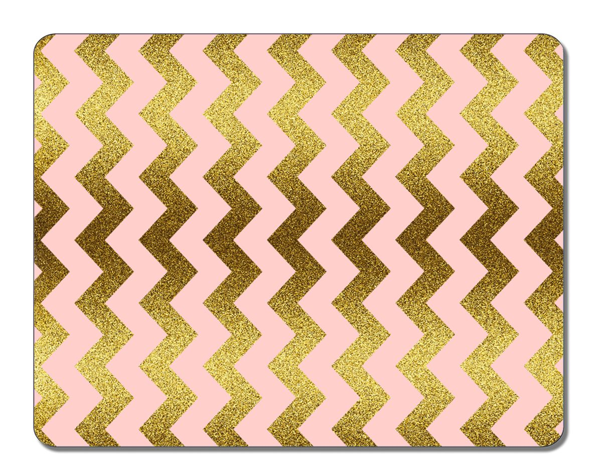 Pink Gold Glitter Chevron Wallpaper Mouse Pads