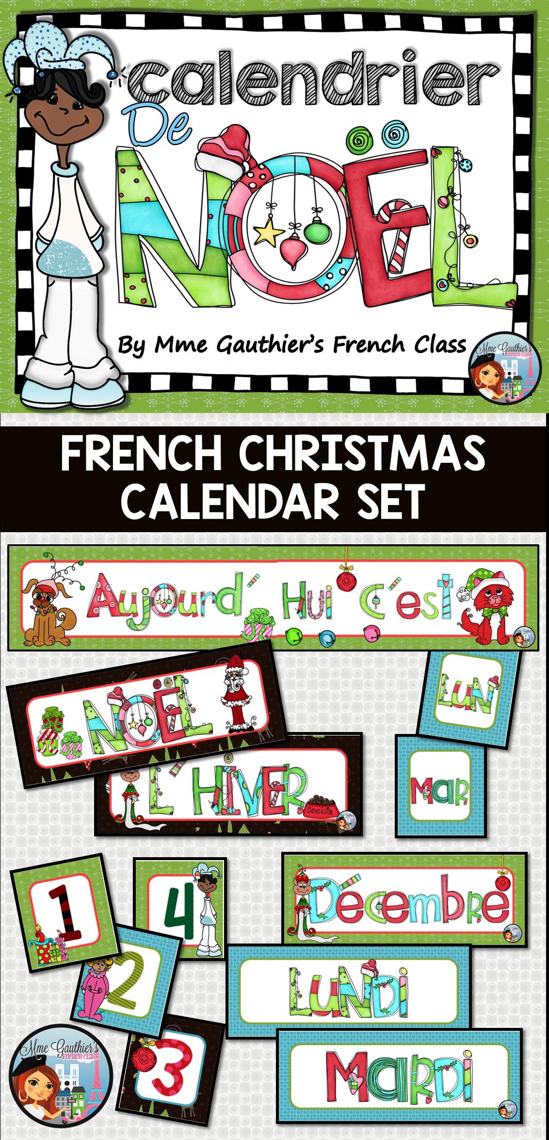 French Christmas Calendar Set