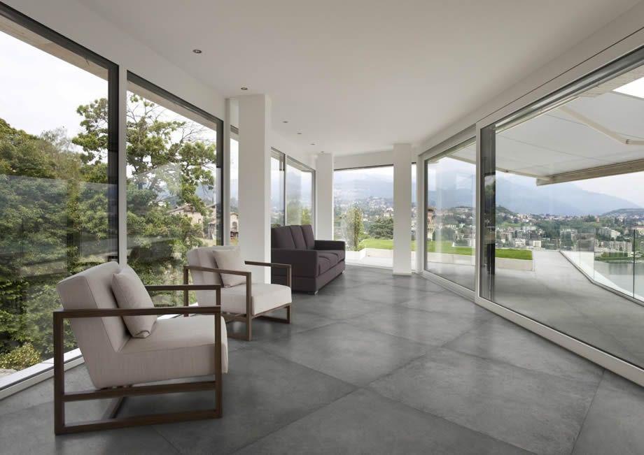 concrete look floor tiles Sydney showroom | Flooring | Pinterest ...